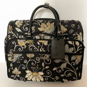 Vera Bradley Yellow bird rolling travel bag